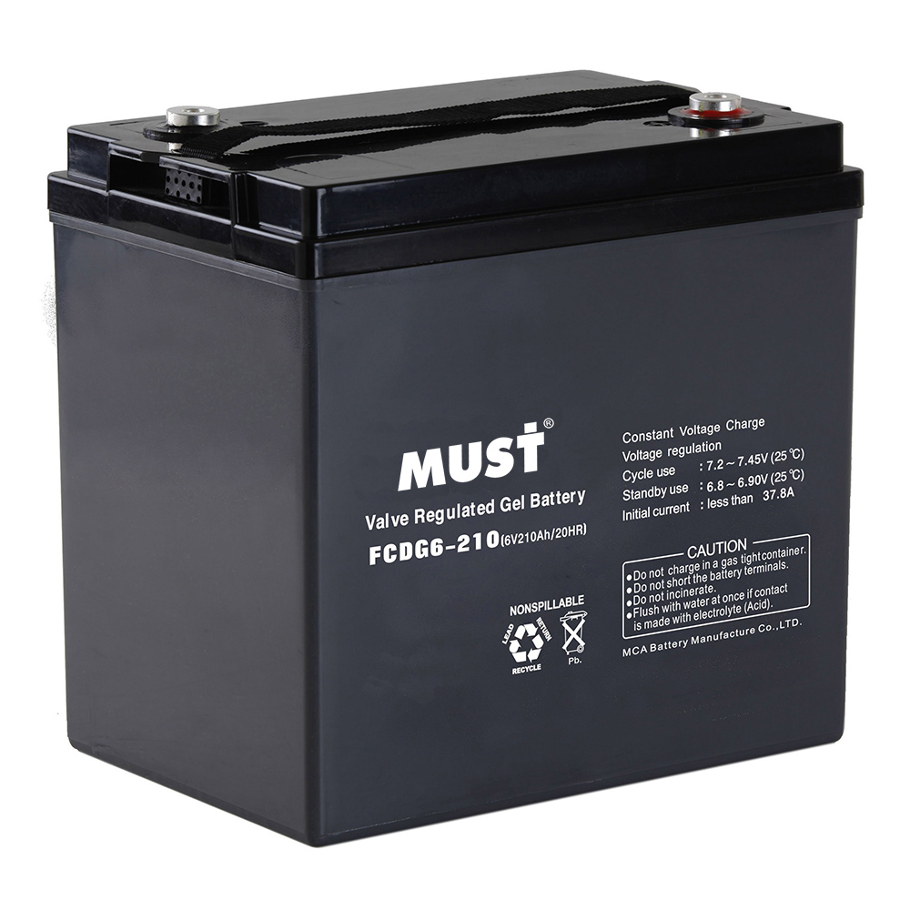 batteries deep cycle gel vrla battery fcdg series 6v 12v must energy. Black Bedroom Furniture Sets. Home Design Ideas