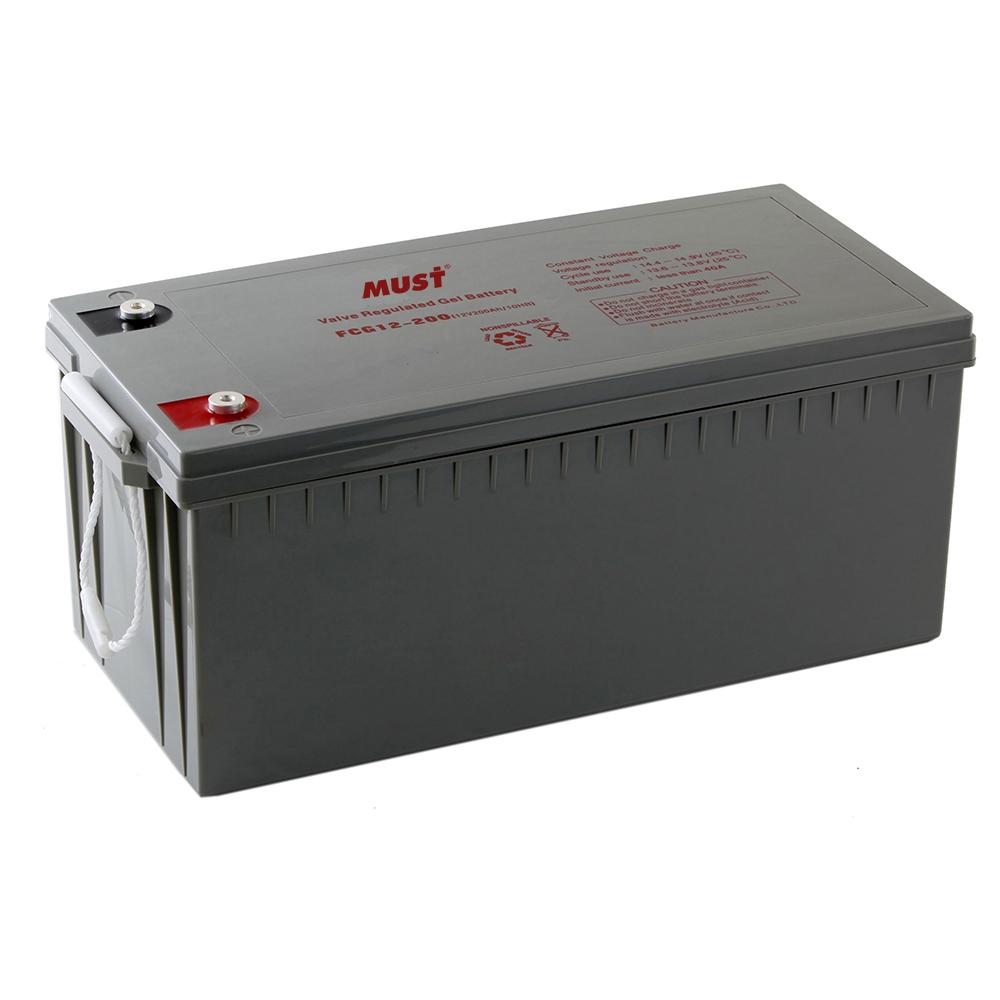 batteries gel sealed lead acid battery fcg series 12v must energy. Black Bedroom Furniture Sets. Home Design Ideas