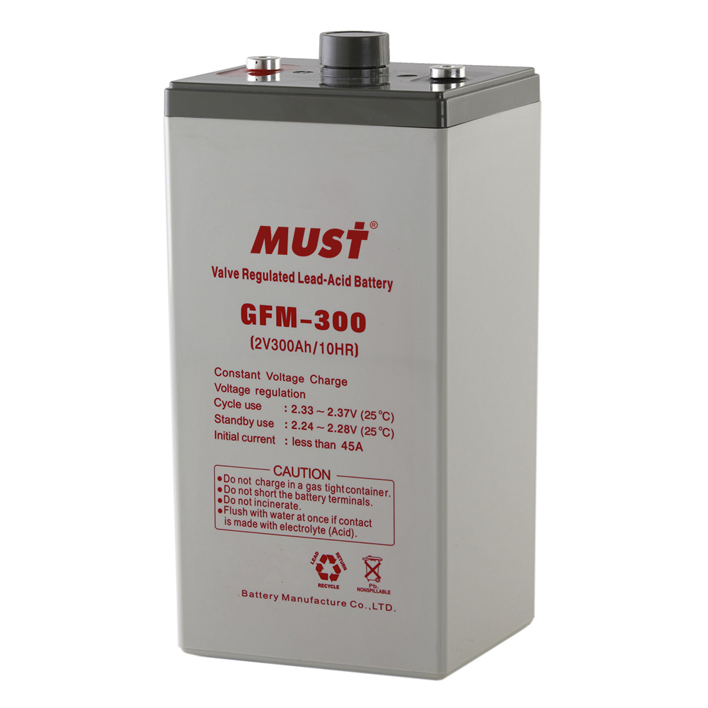 Batteries Long Life Agm Vrla Battery Gfm Series 2v Must Energy